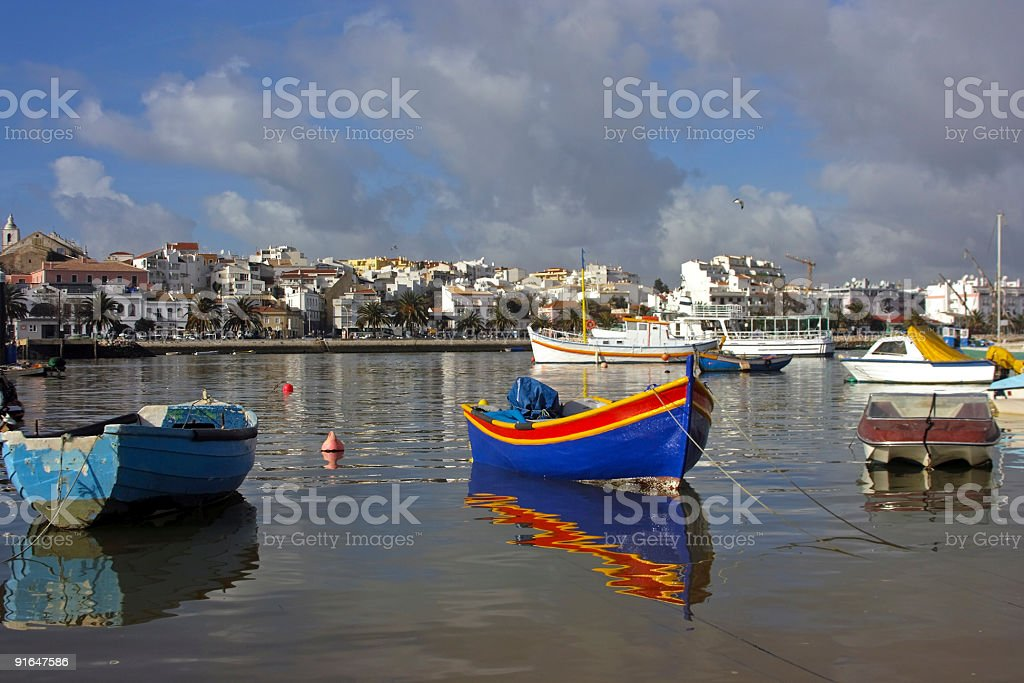 Harbor from Lagos in Portugal stock photo