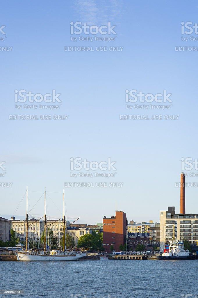 Harbor Helsinki Finland royalty-free stock photo