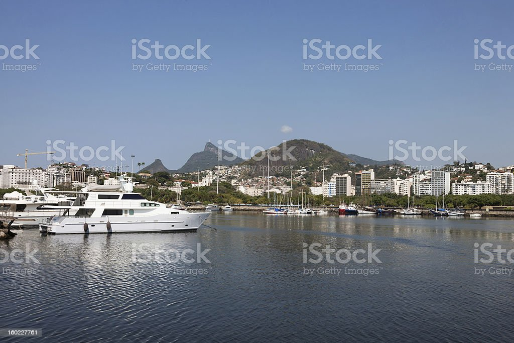 harbor in city royalty-free stock photo