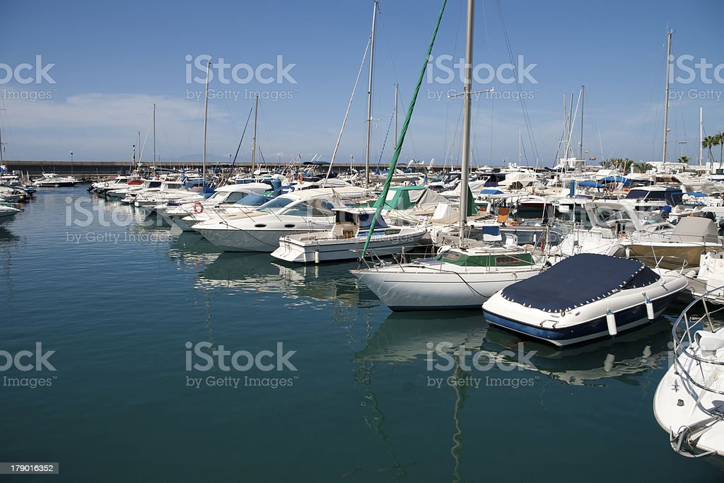 Harbor in Costa Adeje royalty-free stock photo