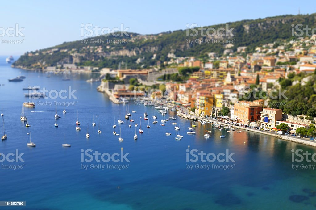 Harbor in France royalty-free stock photo