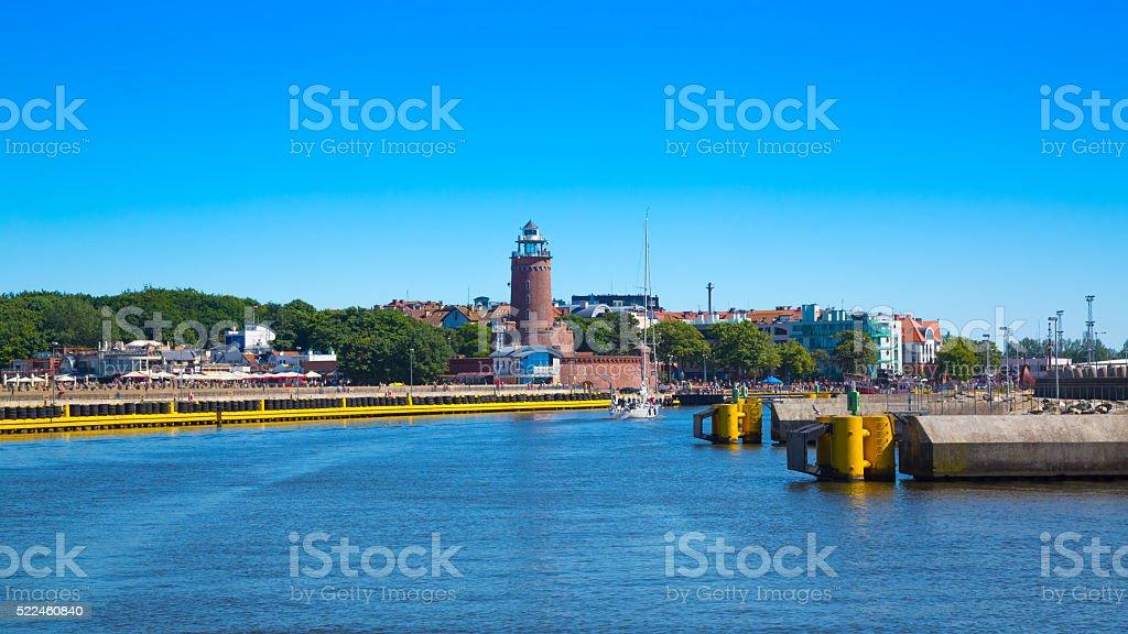 Harbor in Kołobrzeg, Poland stock photo