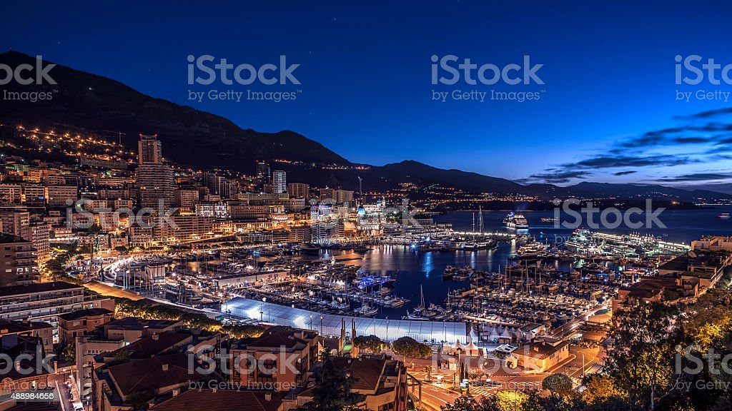 Harbor in Monaco stock photo