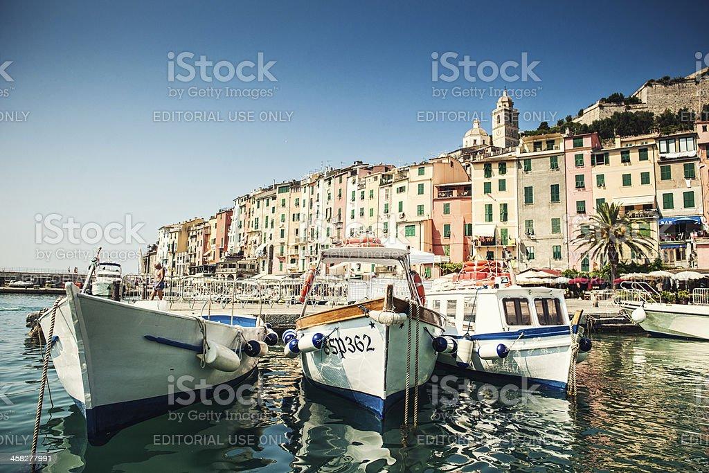 Harbor in Portovenere, Italy royalty-free stock photo