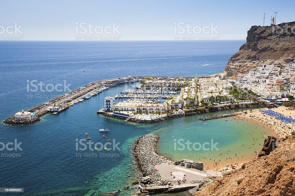 Harbor in Puerto de Mogan on Grand Canary Island stock photo