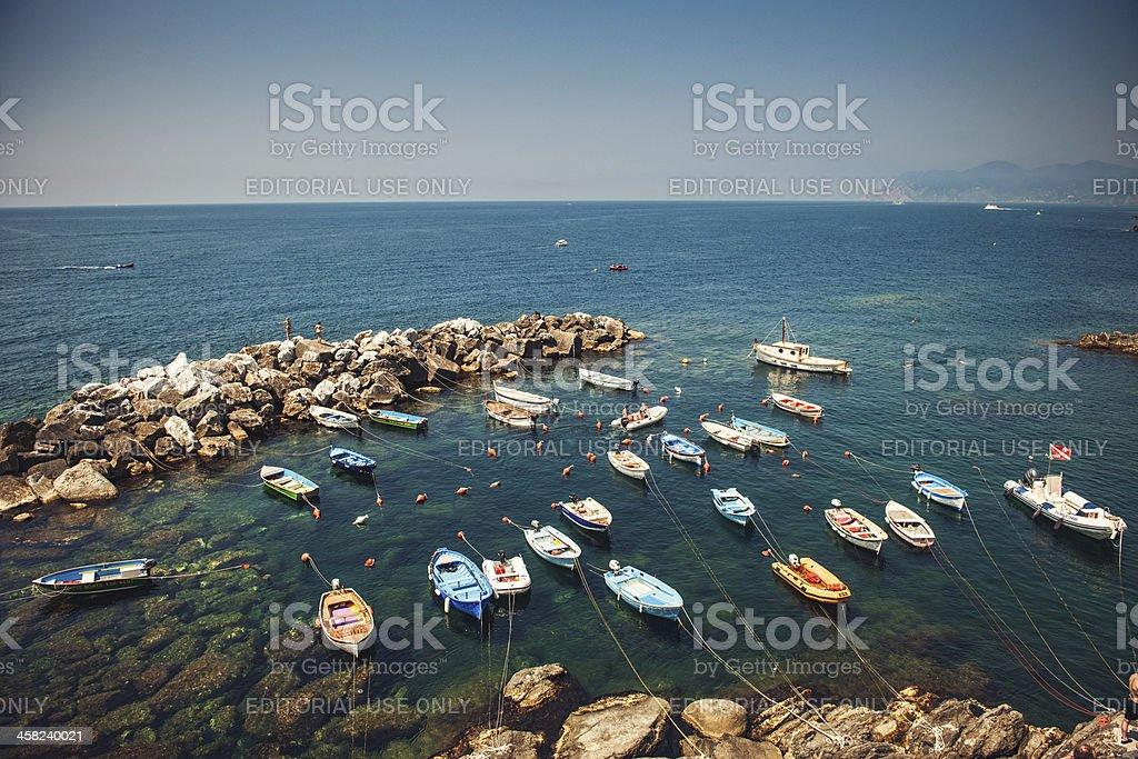 Harbor in Riomaggiore, Italy royalty-free stock photo