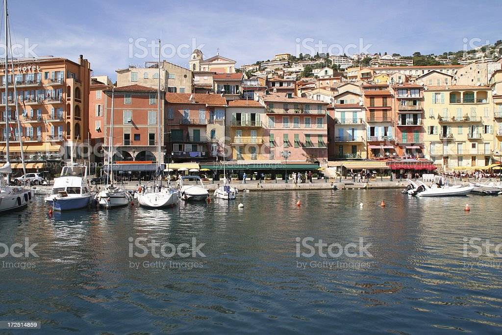 Harbor in Villefranche sur mer, France royalty-free stock photo
