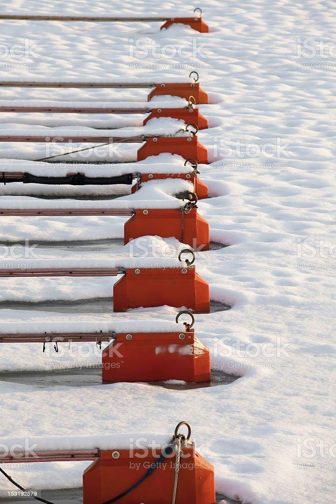 Harbor in winter. royalty-free stock photo