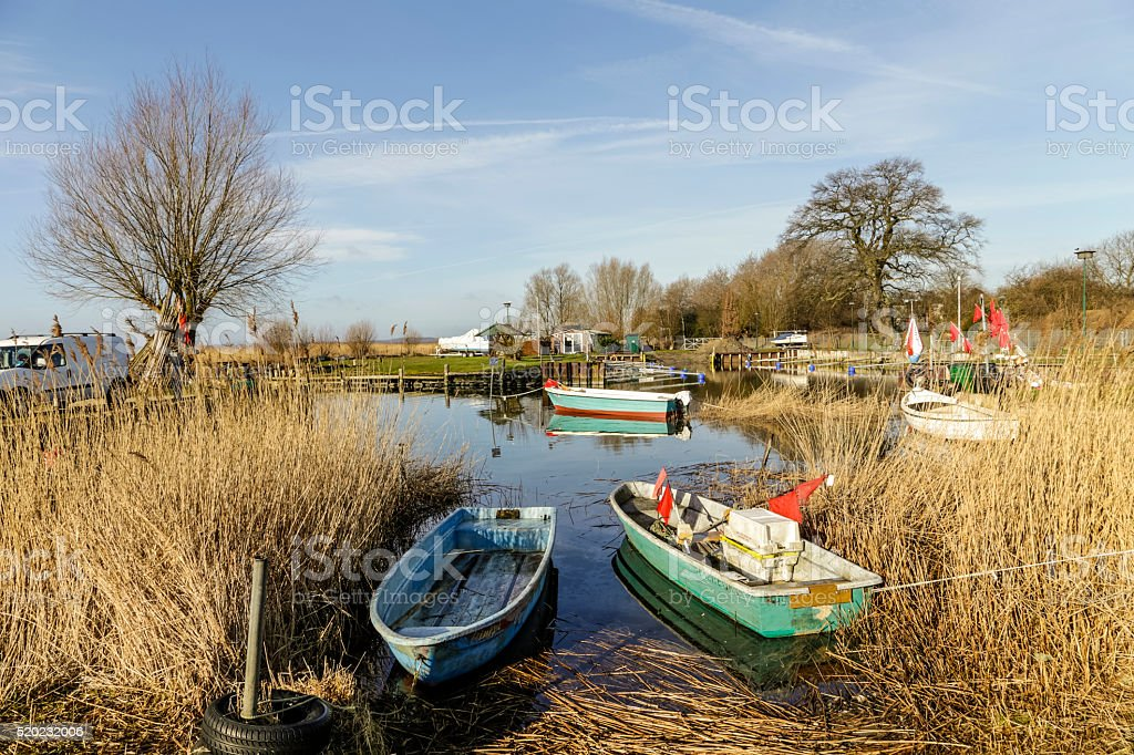 harbor in Zempin on the island of Usedom stock photo