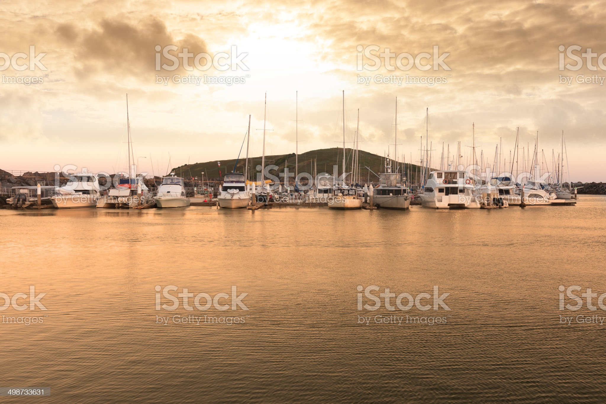 Harbor landscape royalty-free stock photo