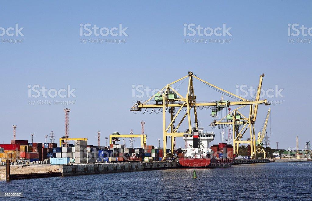 Harbor logistics stock photo