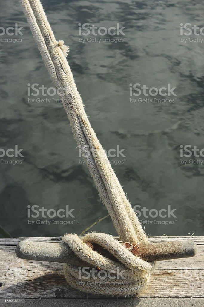 Harbor Marina Dock Cleat royalty-free stock photo