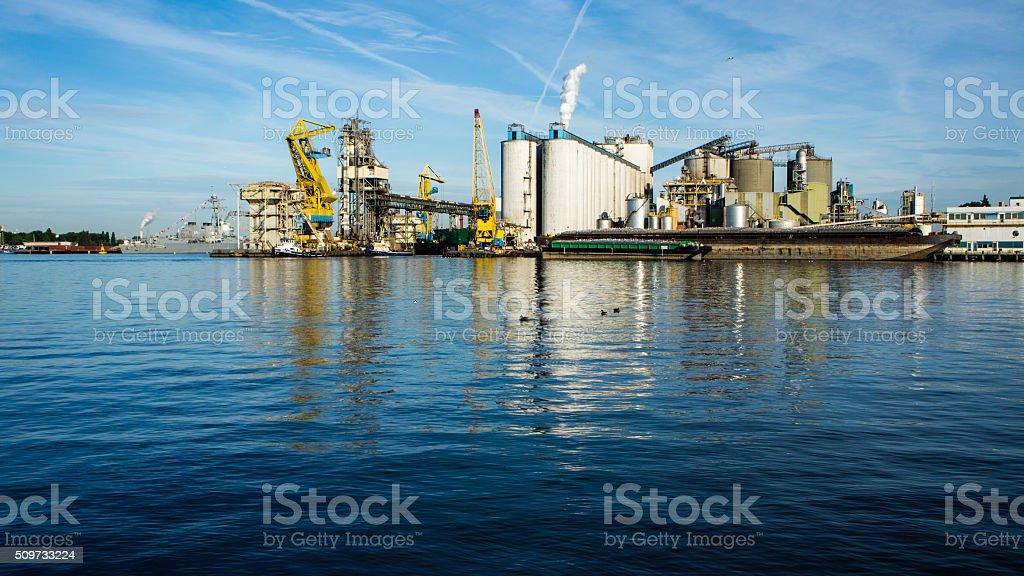 Harbor of Amsterdam stock photo