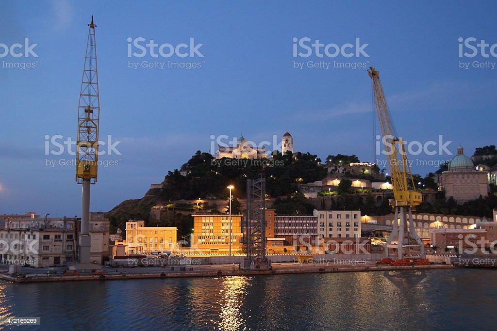 Harbor of Ancona royalty-free stock photo