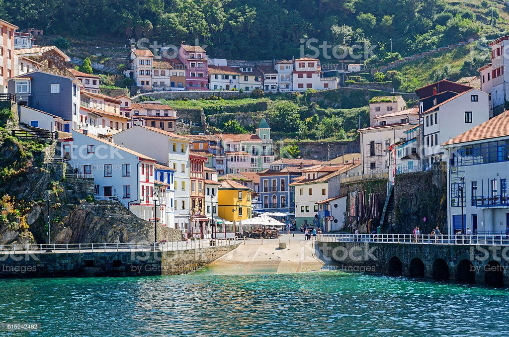 Harbor of Cudillero stock photo