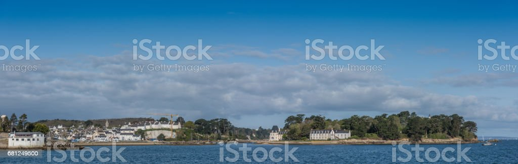 Harbor of Douarnenez, French countryside, Finistere, Brittany, France stock photo