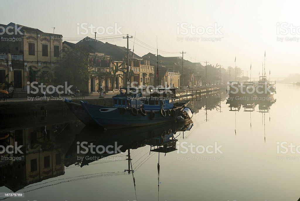 Harbor of Hoi An, Vietnam royalty-free stock photo