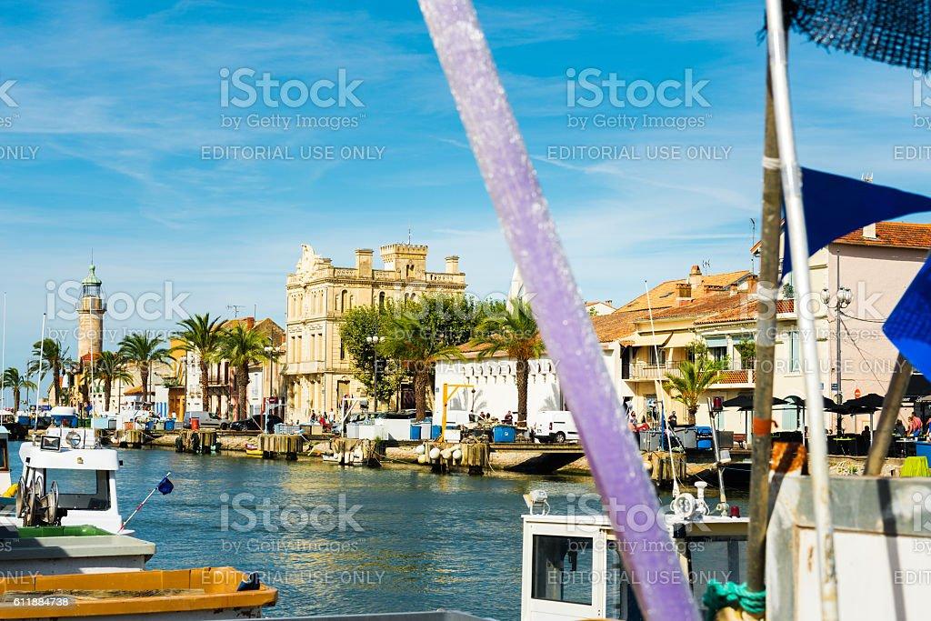 harbor of Le Grau du Roi stock photo