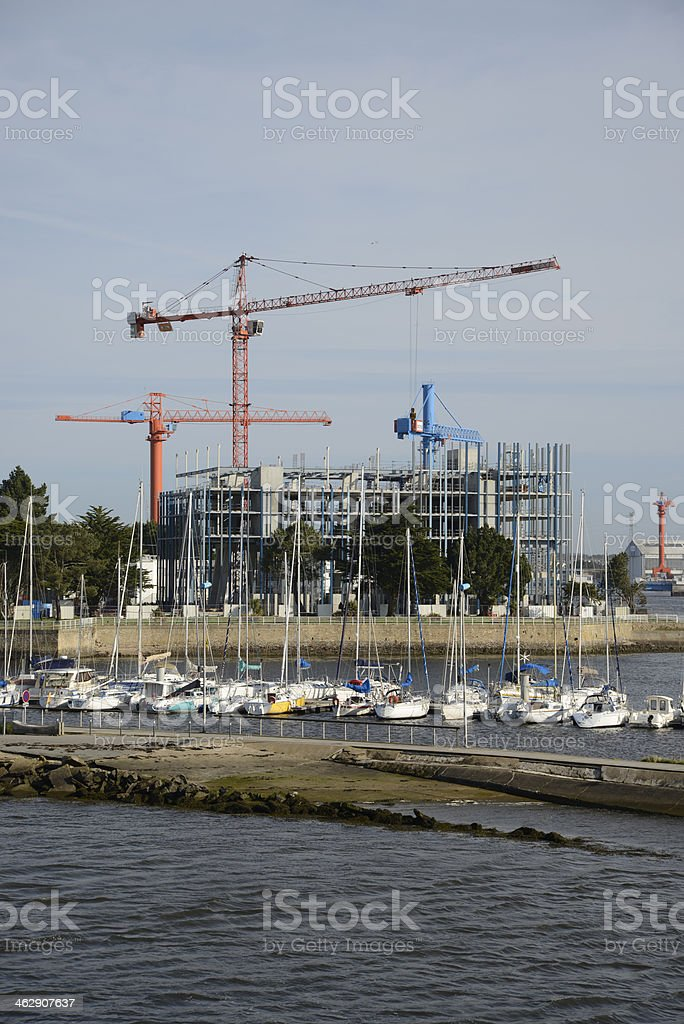 Harbor of Lorient, Brittany, France stock photo