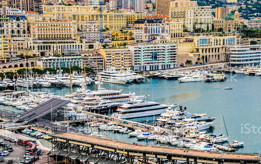 Harbor of Monte Carlo stock photo