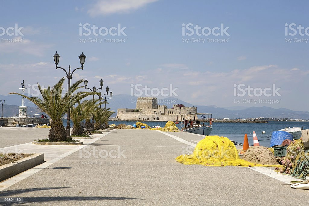Harbor of Nafplio royalty-free stock photo
