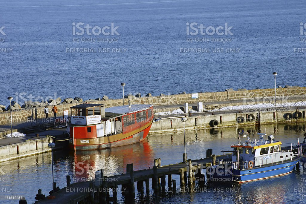 Harbor of Sa?nitz royalty-free stock photo