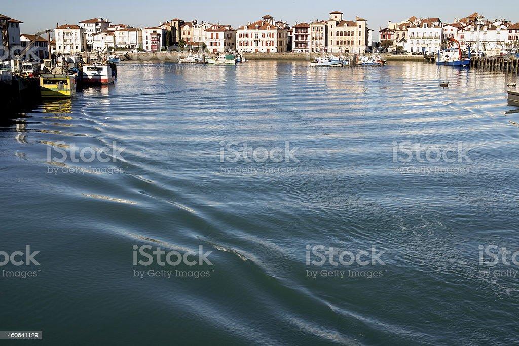 Harbor of St Jean de Luz stock photo
