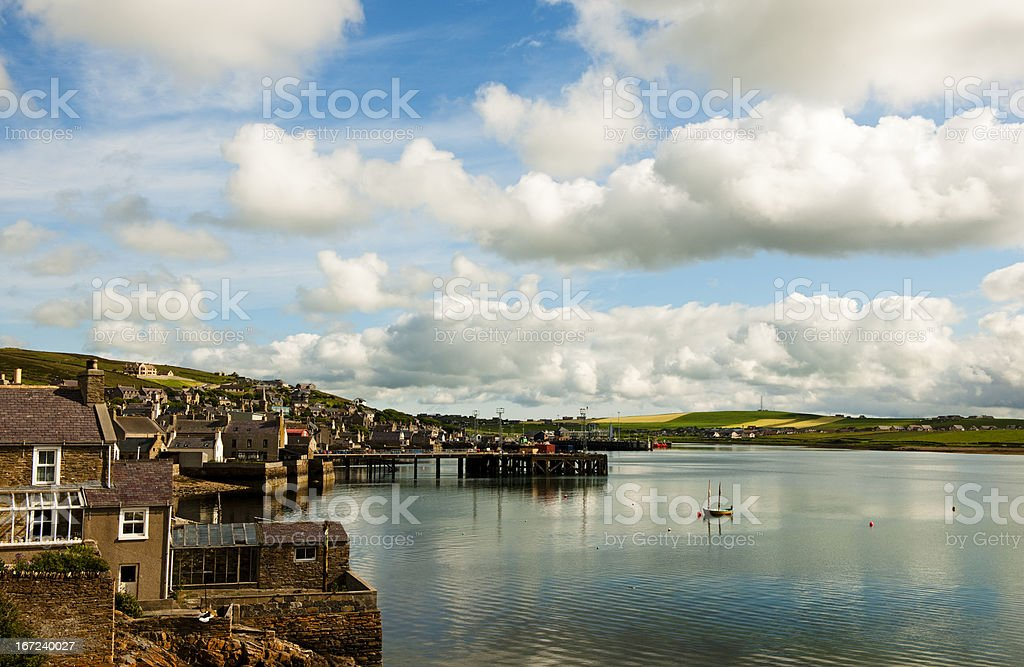 Harbor of Stomness stock photo