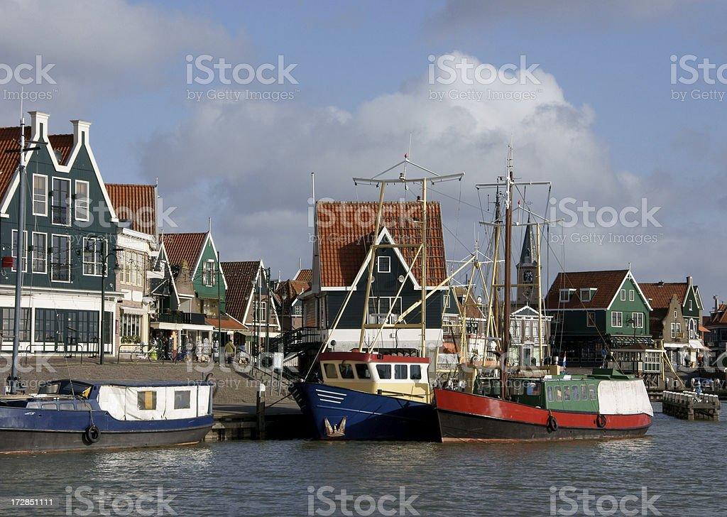Harbor of Volendam stock photo