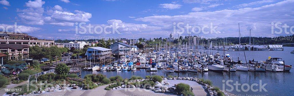 Harbor, Olympia, Washington, United States stock photo