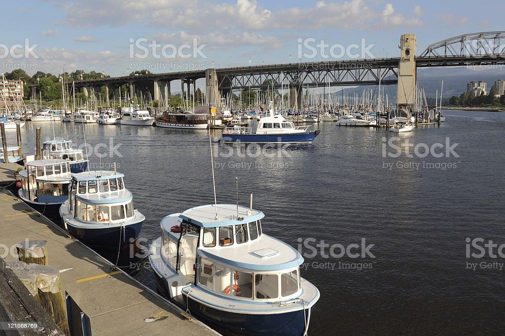 Harbor Patrol Boat, False Creek, Vancouver stock photo