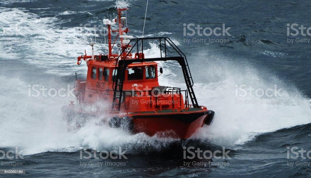 Harbor Pilot Boat stock photo