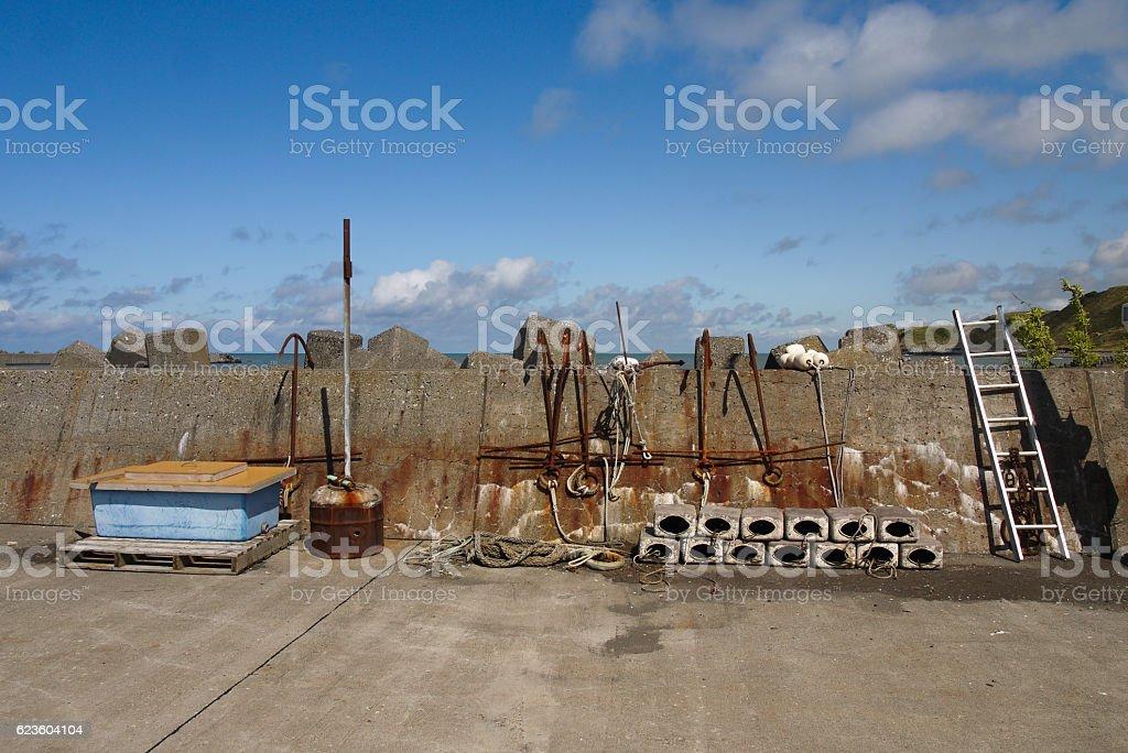 Harbor scenery stock photo