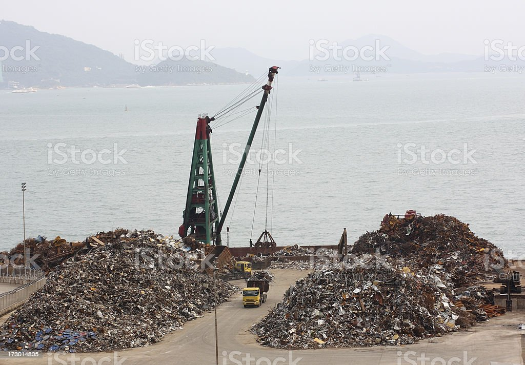 Harbor Scrapyard royalty-free stock photo