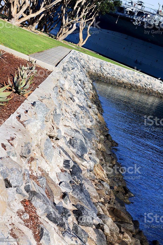 Harbor Sea Wall royalty-free stock photo