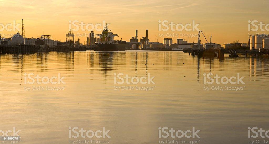 Harbor setting royalty-free stock photo