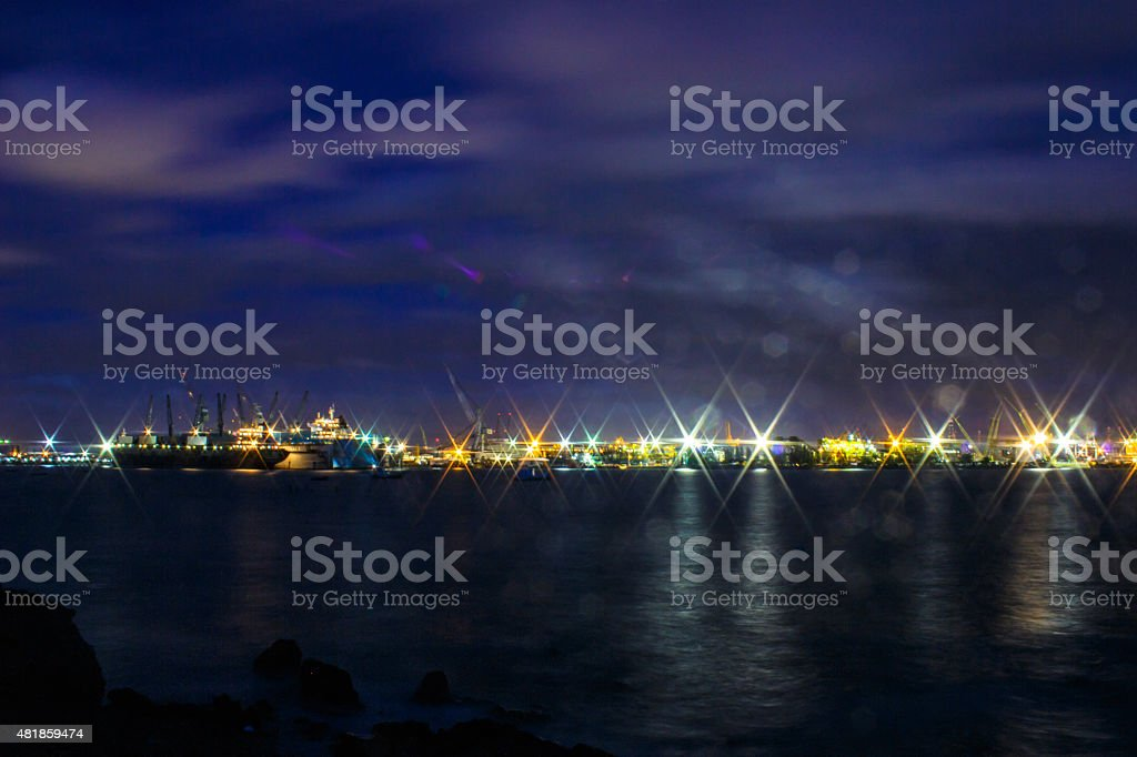 Harbor transport industry stock photo