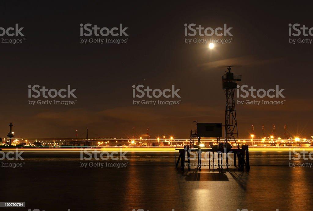 Harbor view in Hamburg. royalty-free stock photo