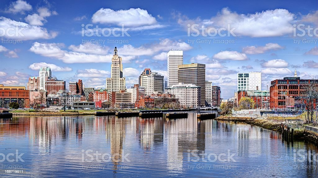 Harbor View of Providence Rhode Island stock photo