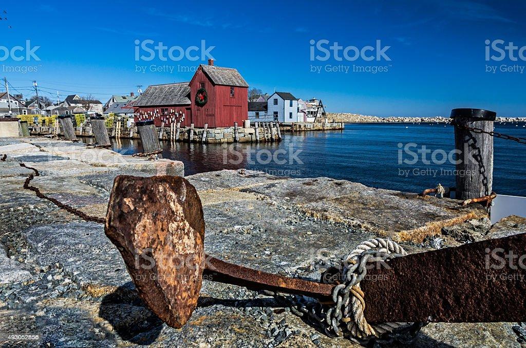 Harbor view of Rockport stock photo