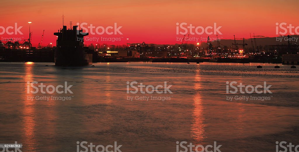 Harbor view stock photo