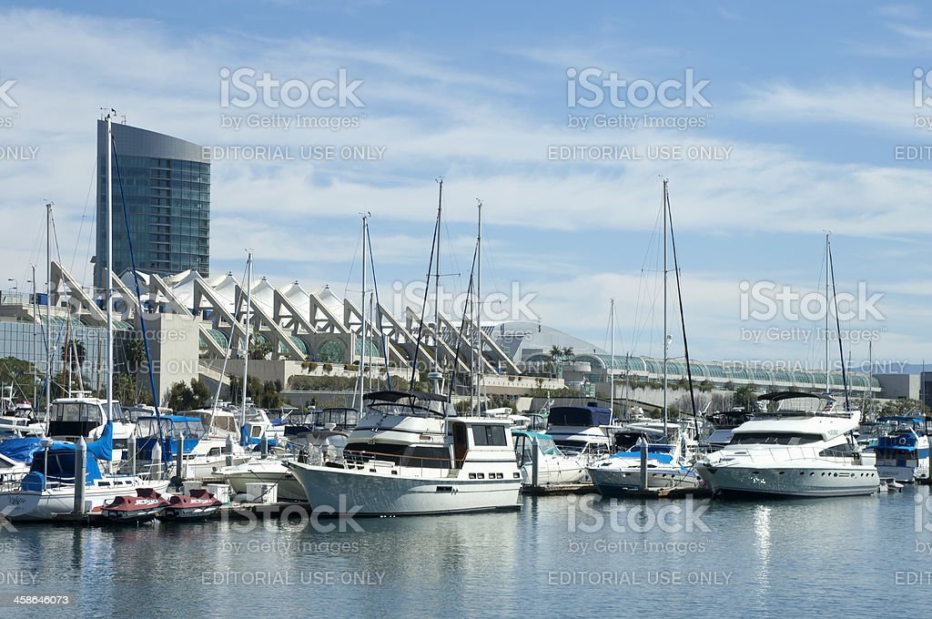 Harbor View with San Diego Convention Center stock photo