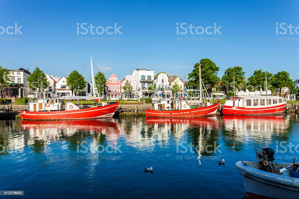 Harbor Warnemünde stock photo