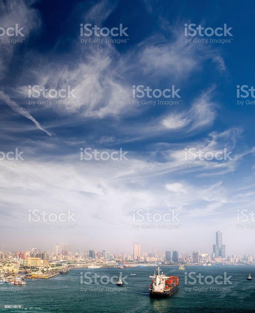 Harbor with boats royalty-free stock photo