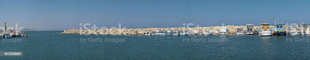harbor with fishing boats royalty-free stock photo