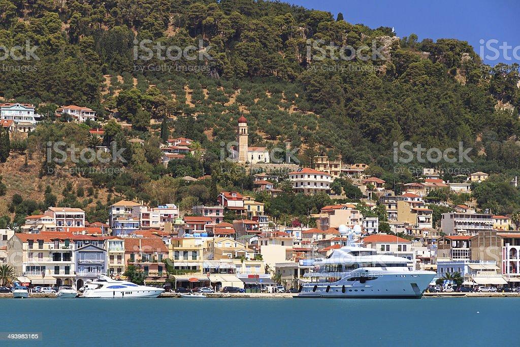 Harbor Zakynthos stock photo