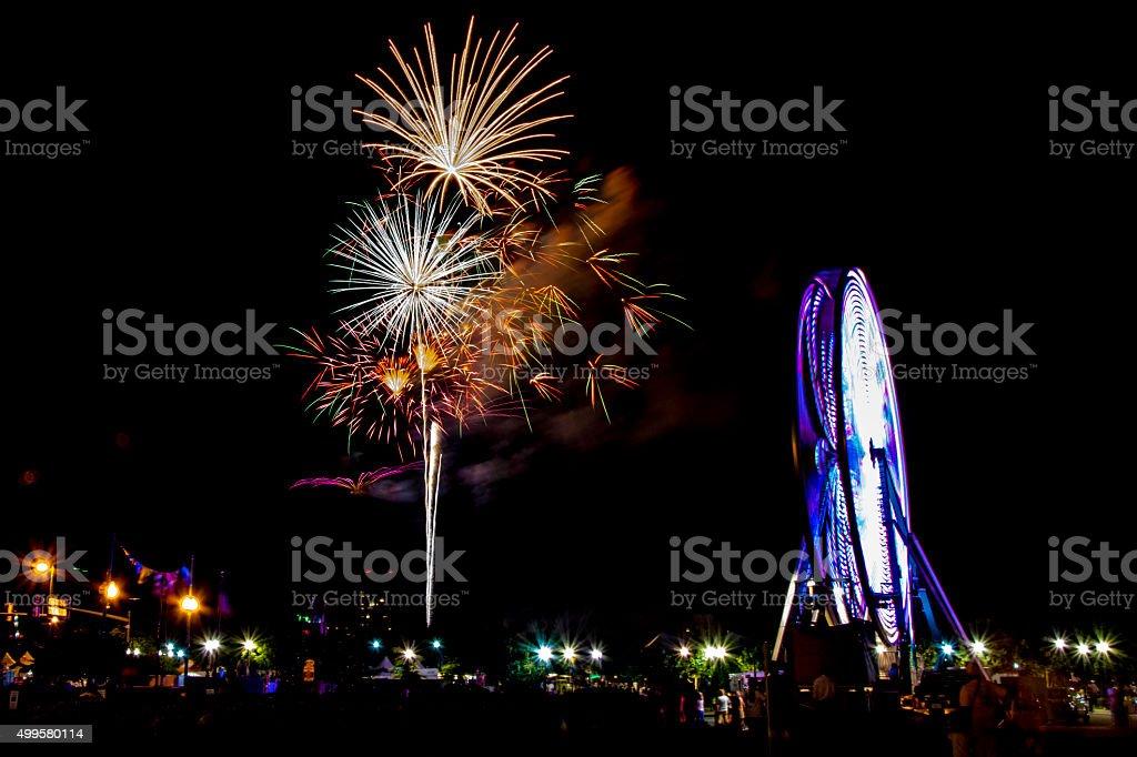 Harborfest Fireworks 2014 stock photo