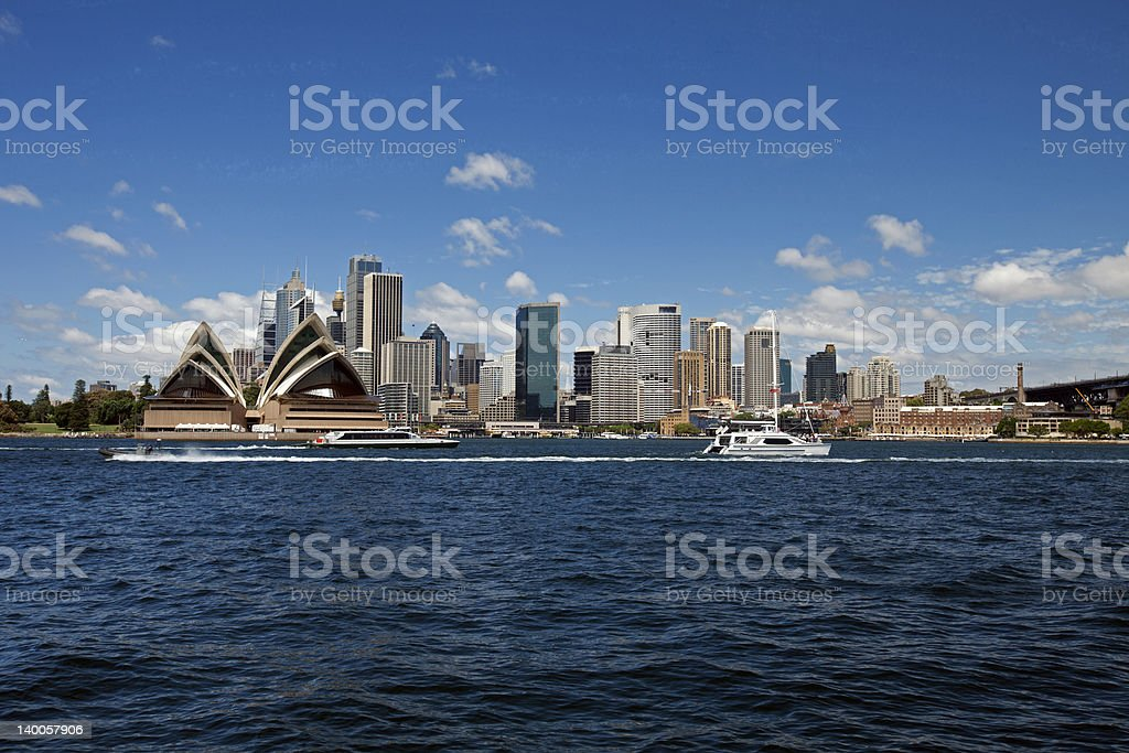 Harbour and downtown of Sydney, Australia stock photo