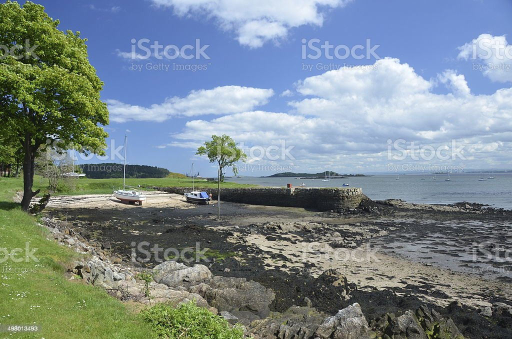 Harbour at Dalgety Bay royalty-free stock photo