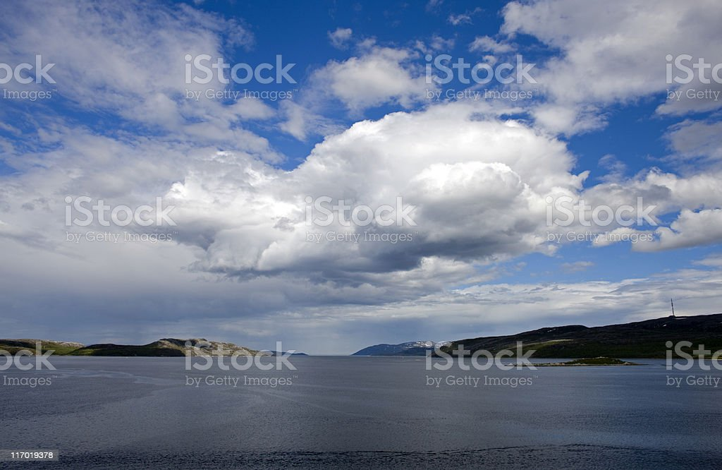 Harbour at Kirkenes, Norway stock photo